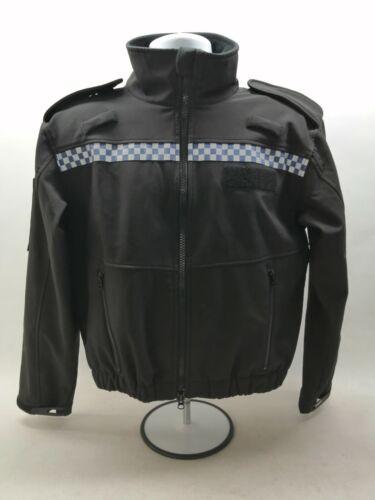 Soft Shell Jacket Black Reflective Uniform Patrol Duty Security Officer Grade 1