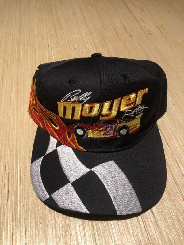 Vintage Billy Moyer Racing Late Model Dirt Racing Black Checkered Snapback Hat