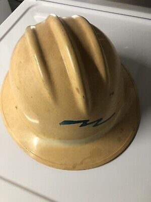 Vintage Hard Boiled Bullard Hard Hat Liner Iron Worker Electric Constuction Usa