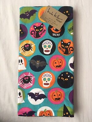 2 Halloween Kitchen Hand Dish Towels, Gift Home Witch, Pumpkin, Skull (CL) MP - Halloween 2 Pumpkin Skull