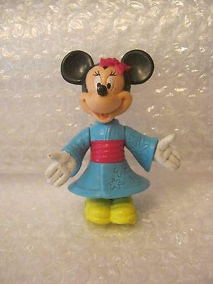 Disney Epcot Center Minnie Mouse Poseable Figurine In Kimono, 1995 (010-7)