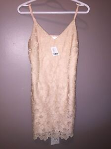 NWT Urban Outfitters rose gold dress - Size 2