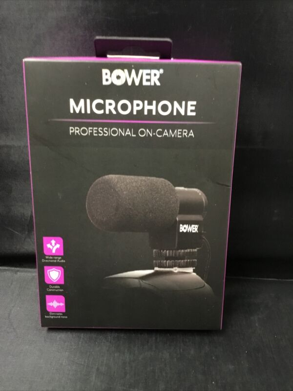 Authentic Bower Professional On-camera Microphone BPH-MIC200 Brand New Sealed