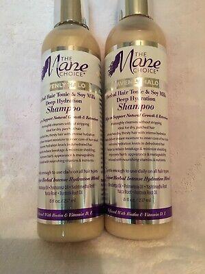 Mane Choice Heavenly Halo Herbal Hair Tonic & Soy Milk Shampoo 8 oz (2 (Halo Herbal Shampoo)