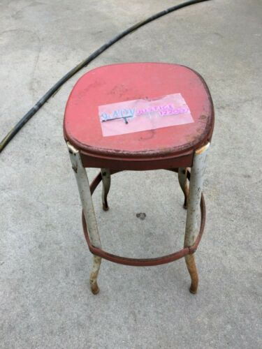 Vintage Red Cosco Retro  Stool Mid Century Kitchen Decor Made In USA