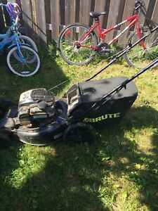 Brut gas lawn mower by Briggs and Stratton