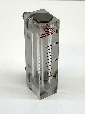 Dwyer 0-200 Scfh Air Flow Meter Flowmeter 14 Male Inletoutlet