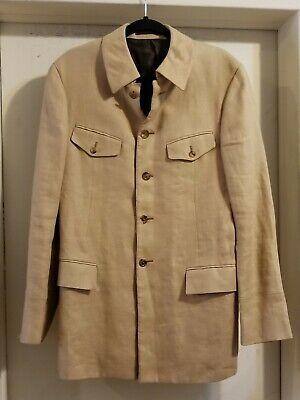 Gianni Versace Vintage Men's Size  Beige Wool 5 Button  Jacket Size IT 50