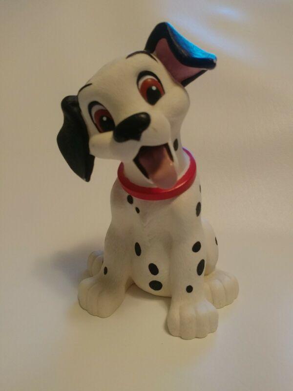 Vtg Disney 101 Dalmatians Hard Plastic Piggy Coin Bank Spotted Dog Applause