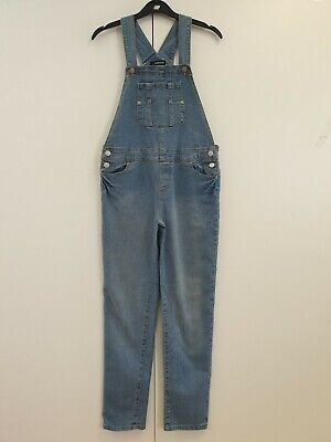 GIRLS JORDACHE BLUE DENIM OVERALL DUNGAREES AGE 10-12 YEARS W26