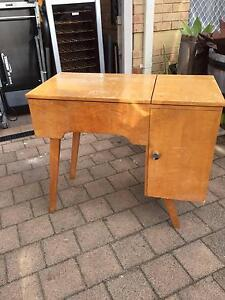 Vintage Timber Veneer Sewing Machine Table Beckenham Gosnells Area Preview