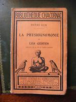 Fisonomía Y Las Gestos Henri Rem 1929 Biblioteca Chacornac - chaco - ebay.es