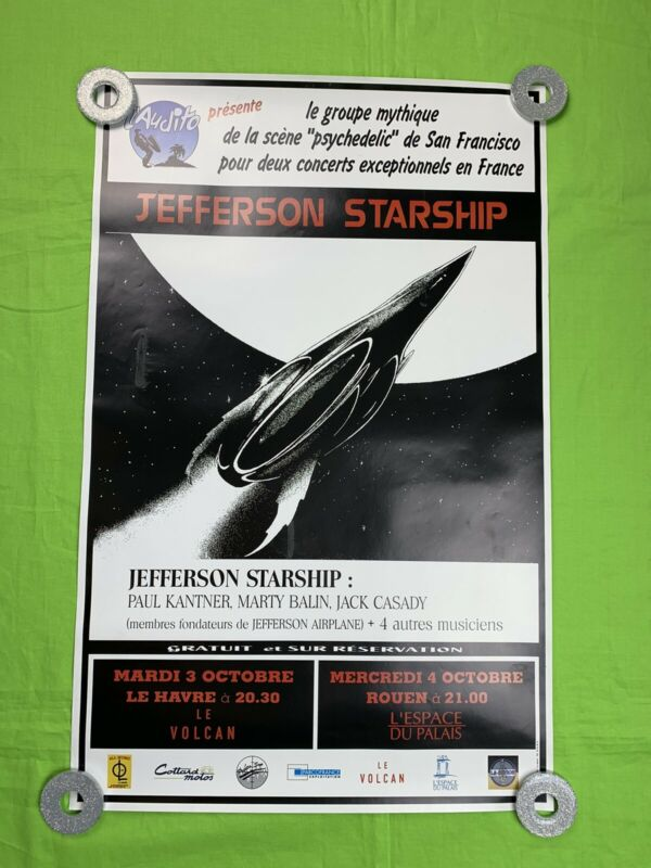 Jefferson Starship Poster France Tour European Tour Promo Poster 24x15