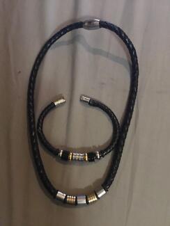 Leather Necklace & Bracket