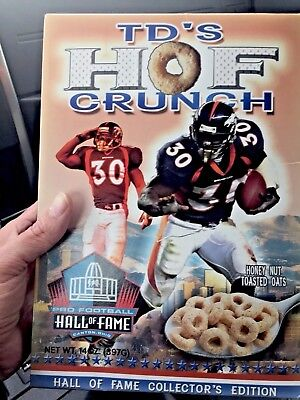 "TERRELL DAVIS ""TD's HOF CRUNCH"" HALL OF FAME COLLECTOR'S EDITION CEREAL  NEW BOX"