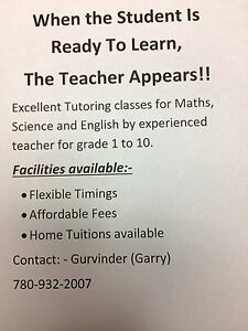 Excellent Home Tutoring classes for Maths,Science & English. Edmonton Edmonton Area image 1