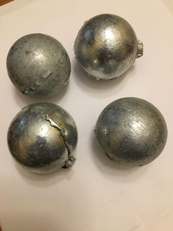 4 ea - Zinc Anodes 1 lb ea 99.9% Pure Zinc Anode Round Ball For Metals & Alloys