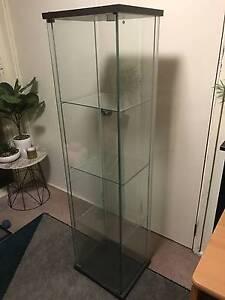 IKEA Detolf glass door cabinet Black/brown $50 Ryde Ryde Area Preview