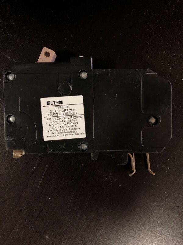 Eaton CHFAFGF120PN Circuit Breaker, 20A, 1-Pole, 120V AC, 10kAIC, Type CH No Box