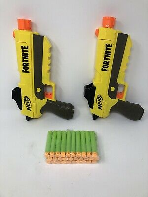 NERF Gun Lot - 2 FORTNITE SP-L Blasters with 30 Foam Darts