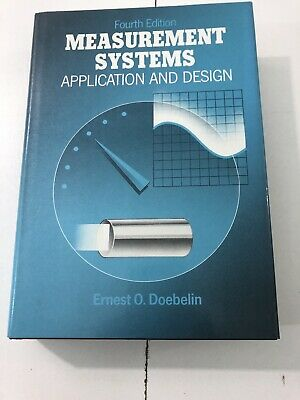 Measurement Systems : Application and Design - Ernest Doebelin (1989, HC, DJ) for sale  Shipping to India