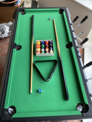 Pool Table, Air Hockey and Football Table. 3 in 1 Multi Game Table for Kids.