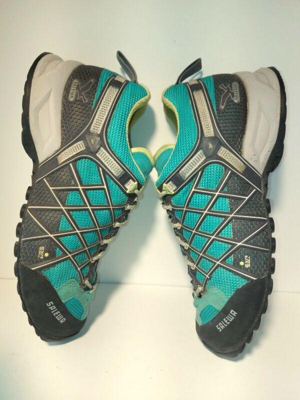 Salewa Wildfire Sz 8 Womens Teale Black Hiking Sneakers