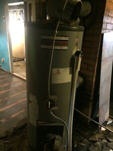Oil hot water heater
