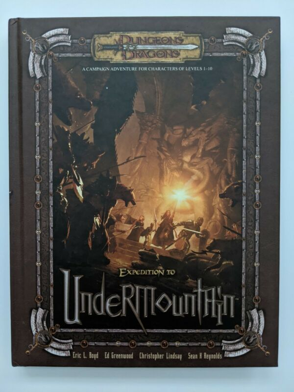 Expedition To Undermountain Hardcover - Dungeons & Dragons D&D WOTC d20