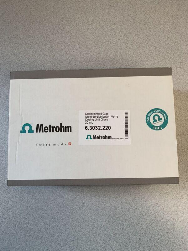 Metrohm Dosing Unit 807 Glass 20 P/N 63032220