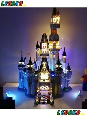 LED Beleuchtungsset für Lego® für 71040 Schloss + USB Multiport (149 Led) ledako (Usb Lego)