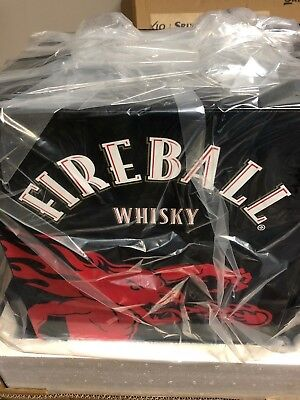 NEW Fireball Beverage Cooler Small Mini Refrigerate Glass Door Fireball Whisky