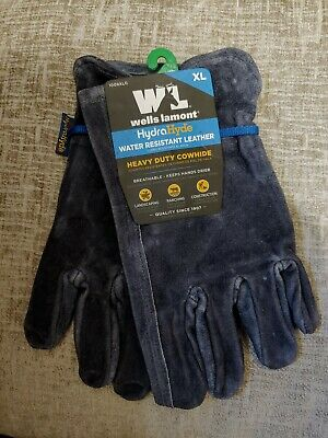 Wells Lamont Hydrahyde Water Resistant Leather Work Gloves-heavy Duty Cowhide Xl