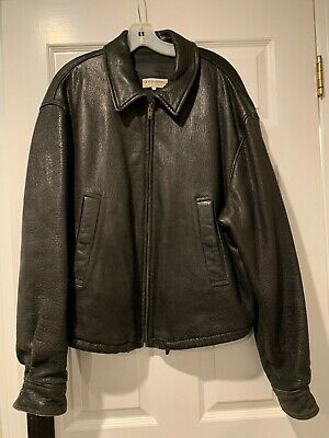 Mens Giorgio Armani Blk Leather Jacket Sz 44SO SOFT EUC