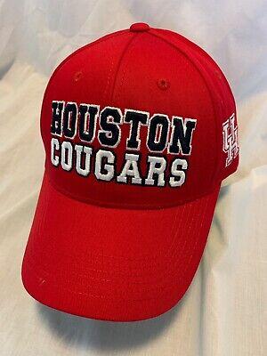 HOUSTON COUGARS NCAA TOP OF THE WORLD TEAMWORK HAT ADJ SNAPBACK OSFM NWT](Houston Cougars Hat)