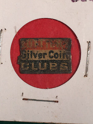 Vintage Silver Coin Lottiers Clubs Tobacco Tag
