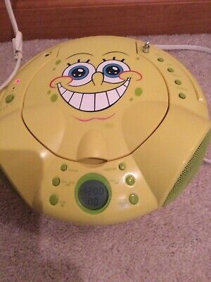 spongebob cd player, radio, alarm clock