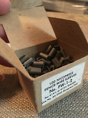 100 Nicopress Fence-wire Sleeves For 14.5 Or 15.5 Gauge Wire Fw-1-2