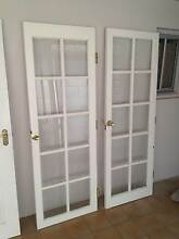 4 Wooden Doors with Glass Panels Wembley Downs Stirling Area Preview