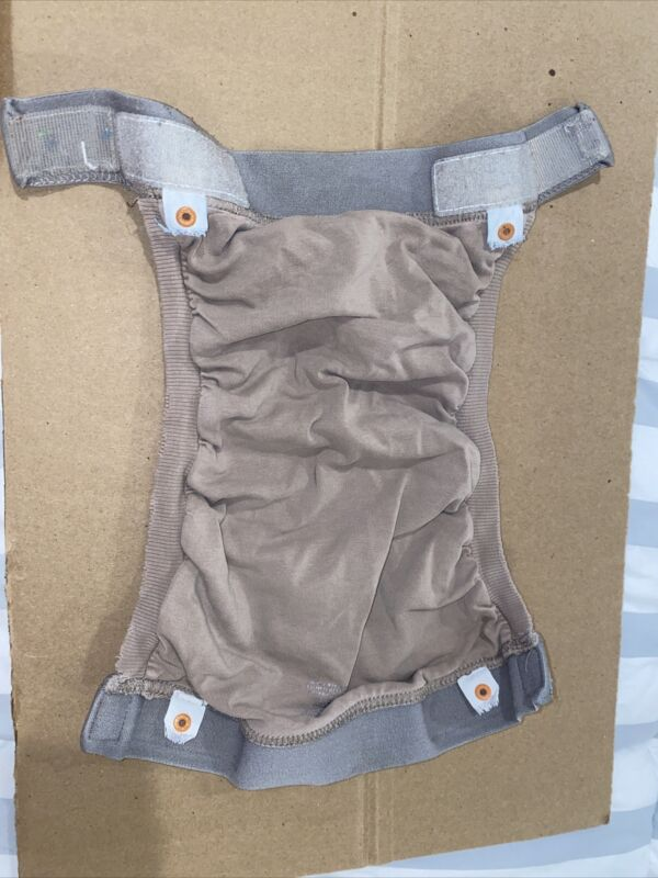 gDiapers - Group 6 - Large Light Brown Gpant, 2 Liners, and 2 Gcloth Inserts