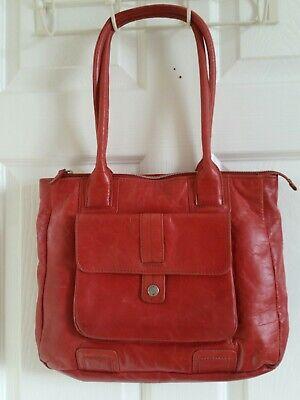 Terracotta large Leather Handbag by HIDESIGN