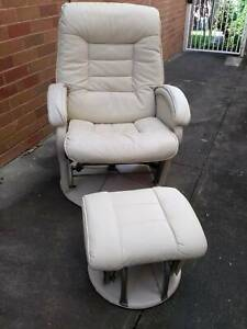 Glider Nursery Chair with gliding ottoman