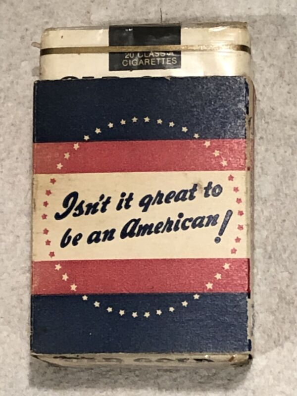 WW 2 Patriotic Cigarette Package In Sleeve,  Shipped USPS