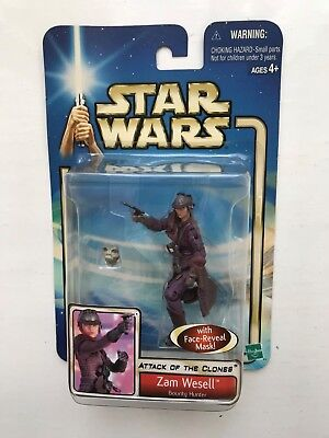 BOXED STAR WARS ATTACK OF THE CLONES ZAM WESELL HASBRO ACTION FIGURE