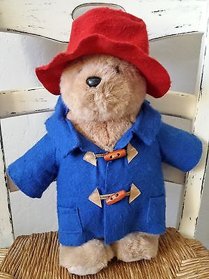 "Paddington Bear Plush 2002 16"" Bear Stuffed Animal"