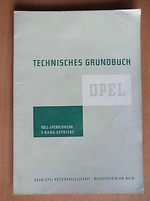 Opel voll-sperr-synchronisiertes 3-Gang Getriebe Reparatur Handbuch 1961 ab 1956