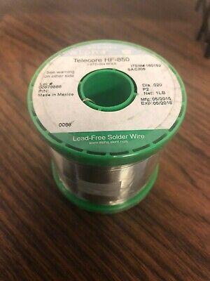 Alpha Telecore No Clean Hf-850 Halogen Free Solder Wire P2 .020 Sac305 1lb