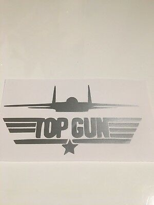 silver top gun,car decal/ sticker for windows, bumpers , panels or laptops