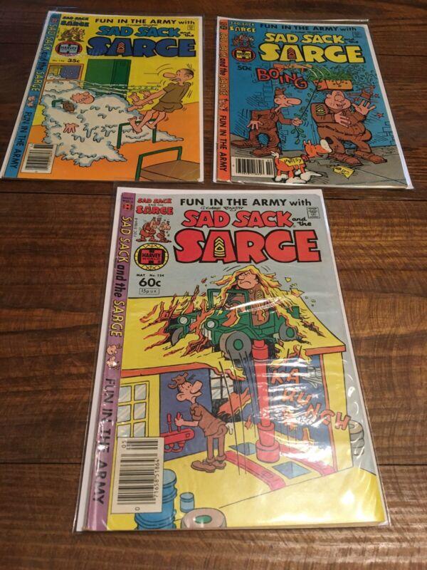 VINTAGE LOT Of 3 SAD SACK AND THE SARGE comic books BRONZE Age