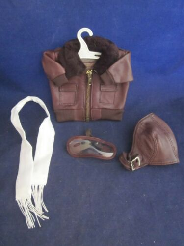 Leather Bomber Jacket Hat Goggles Scarf for use with MUFFY VANDERBEAR VINTAGE